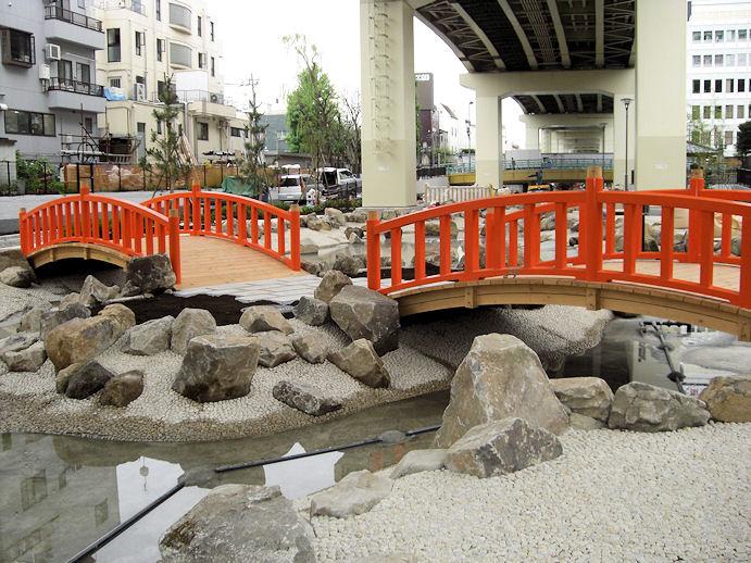 亀戸「三代豊国五渡亭園」の太鼓橋